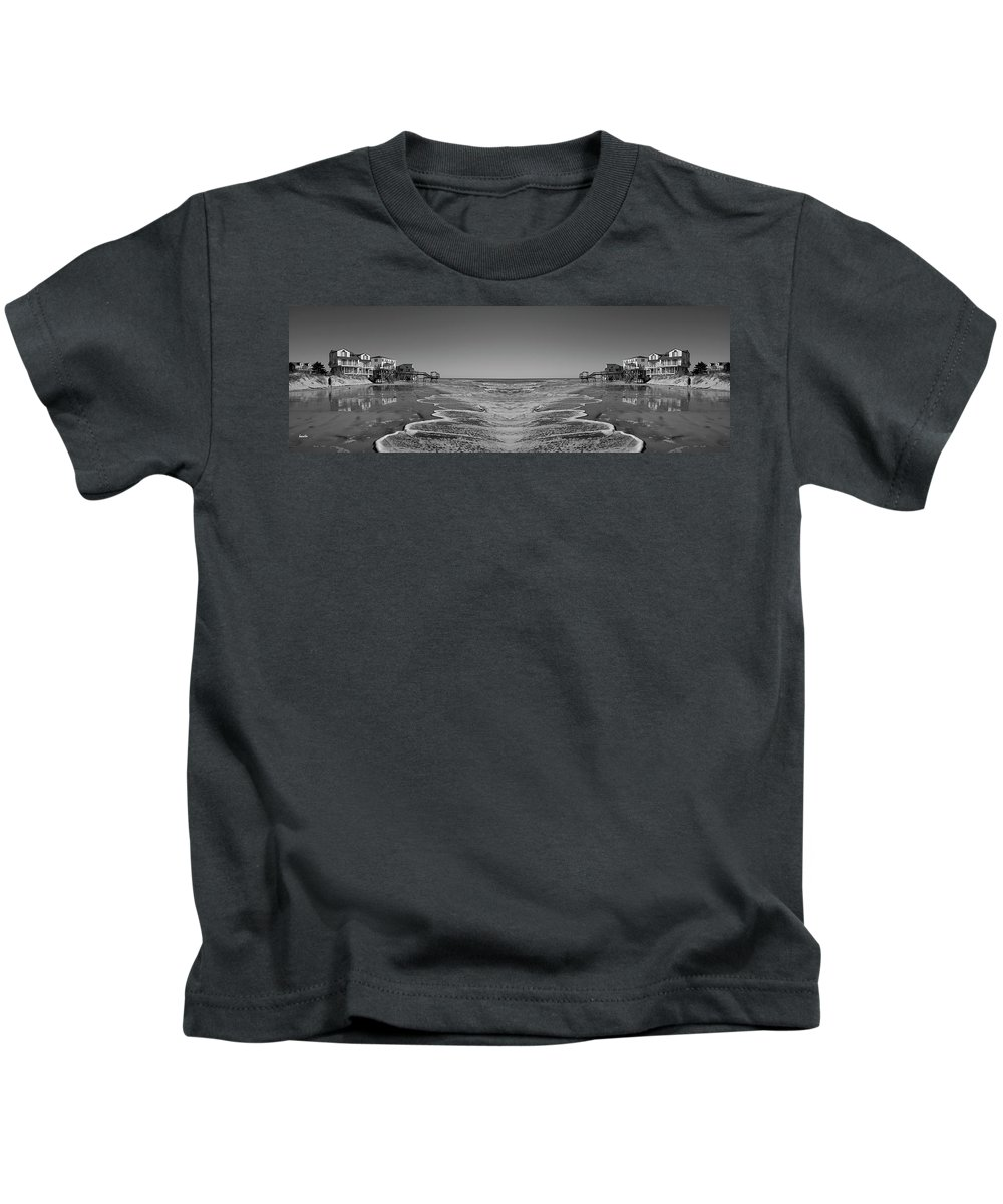Topsail Island Kids T-Shirt featuring the photograph Across The Way by Betsy Knapp