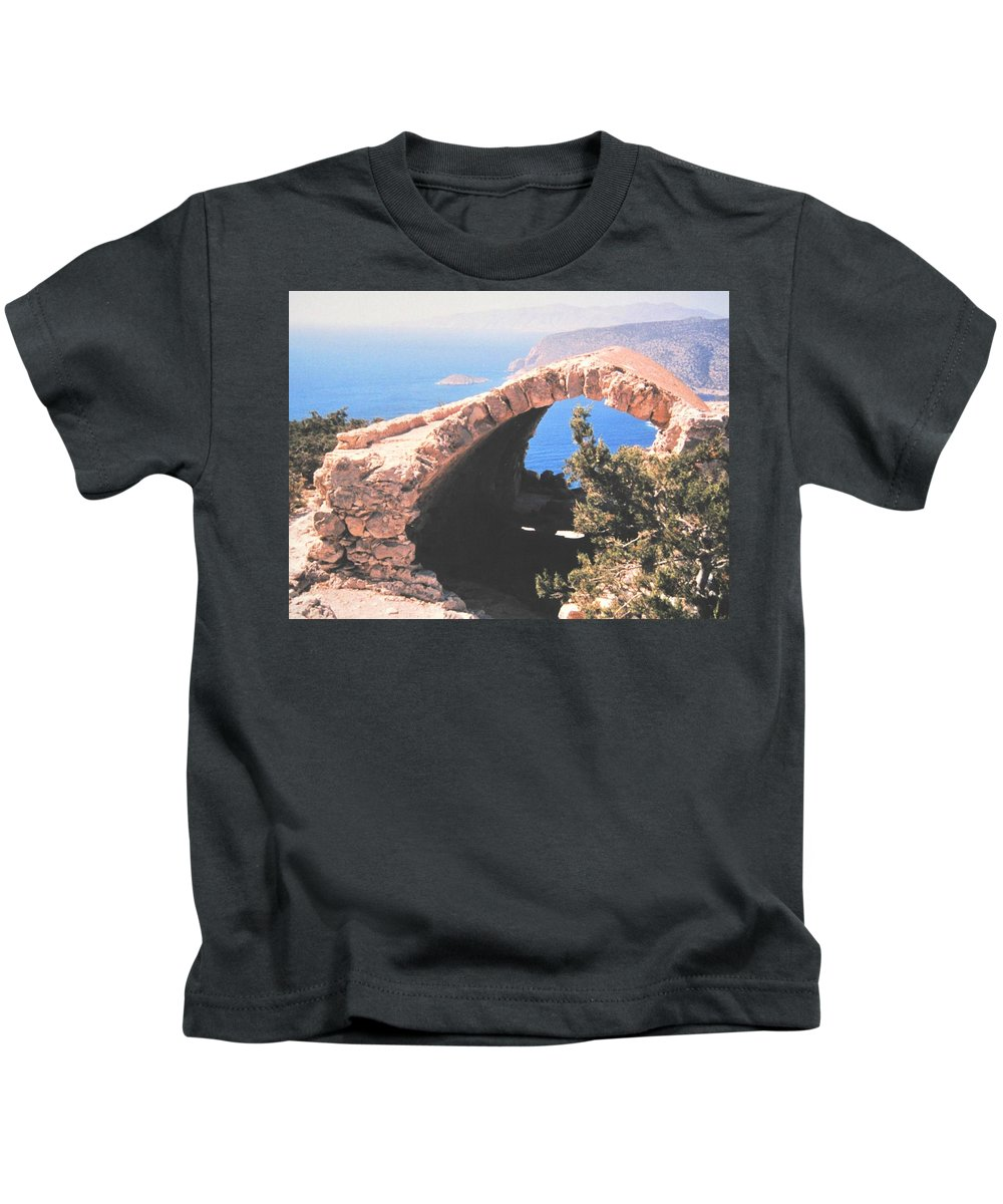 Greece Kids T-Shirt featuring the photograph Across To Turkey by Ian MacDonald