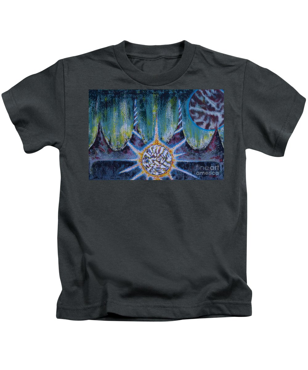 Space Kids T-Shirt featuring the painting Activating The Ion Shield by CJ Winter