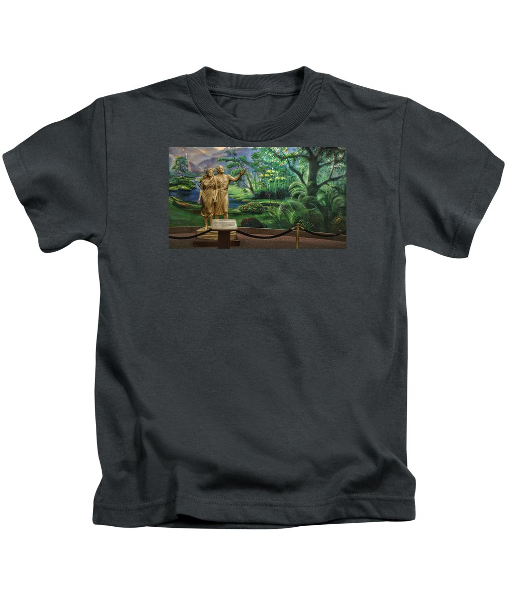 Mormon Kids T-Shirt featuring the photograph Adam And Eve Display by Buck Buchanan