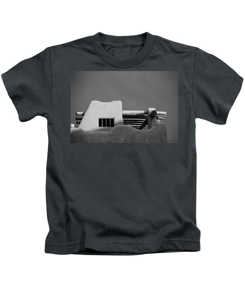 Architecture Kids T-Shirt featuring the photograph Adobe Turrett by Rob Hans
