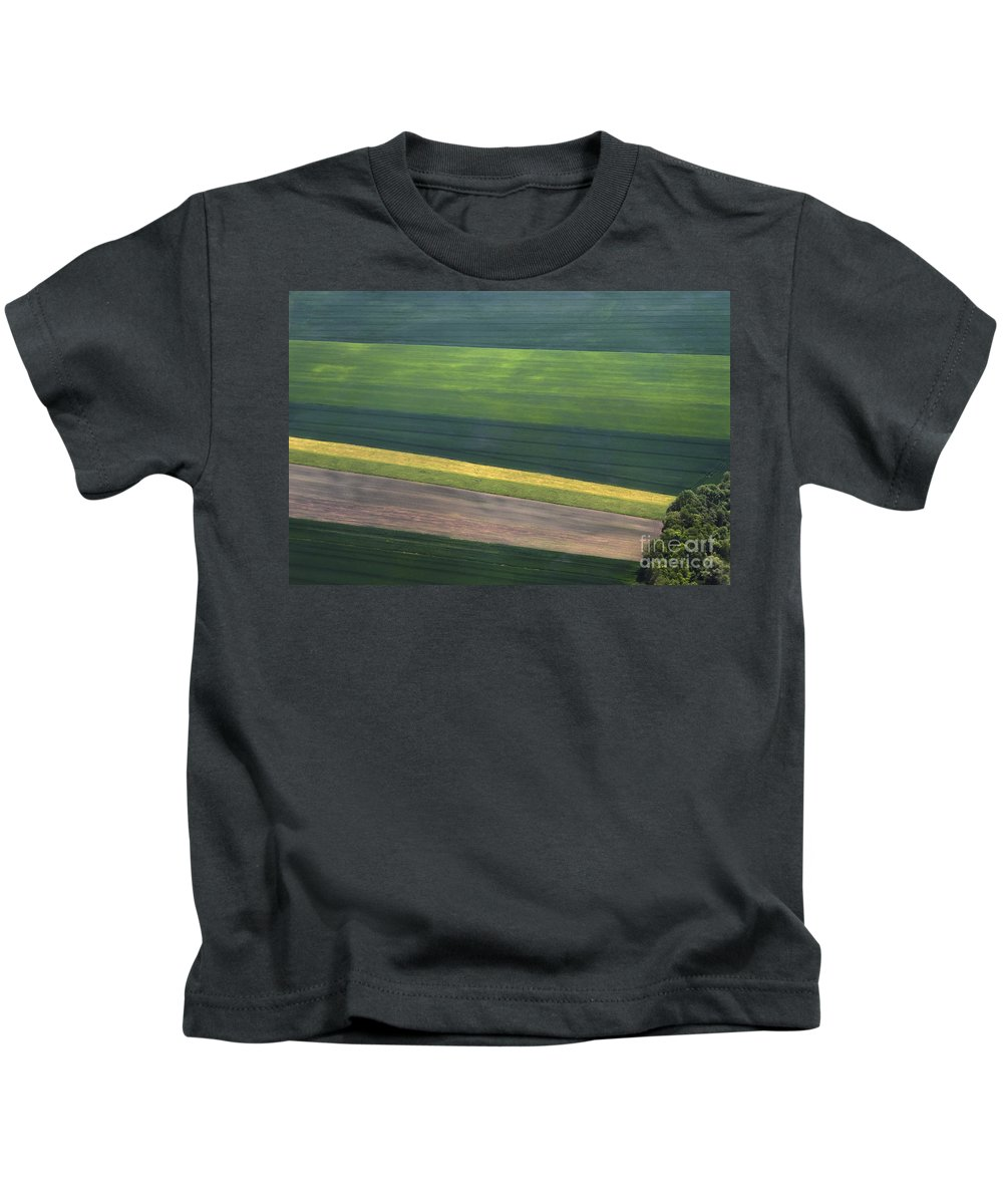 Aerial Kids T-Shirt featuring the photograph Aerial Abstract by Teresa Zieba