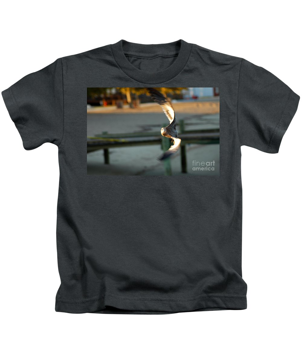 Clay Kids T-Shirt featuring the photograph Aeronautical Acrobatics by Clayton Bruster