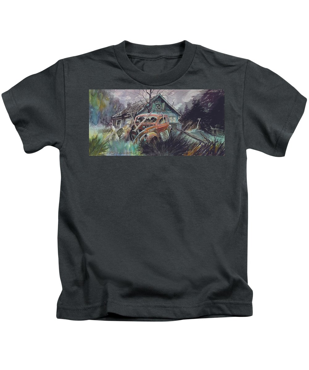 Ford Kids T-Shirt featuring the painting Affordable by Ron Morrison