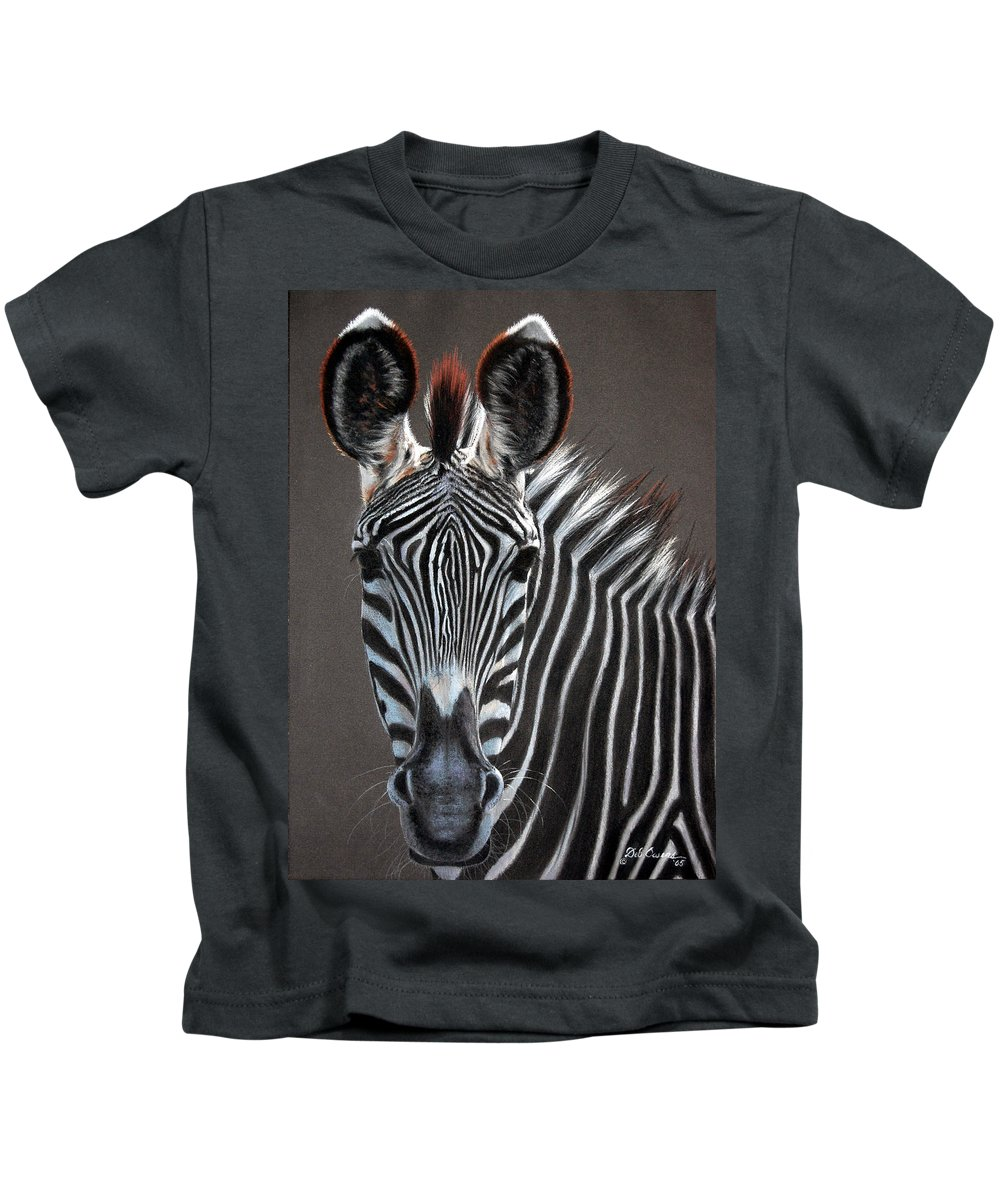 Wildlife Kids T-Shirt featuring the painting African Beauty by Deb Owens-Lowe