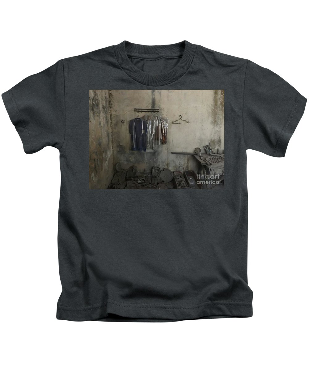 Room Eruption Volcano Traditional Music Gamelan Java Indonesia Kids T-Shirt featuring the photograph After A Volcanic Eruption by Aris Sukoco