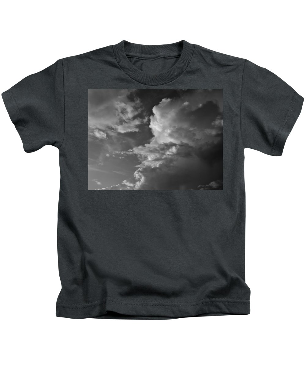 Black And White Kids T-Shirt featuring the photograph After The Storm In Black And White by Mario Carta
