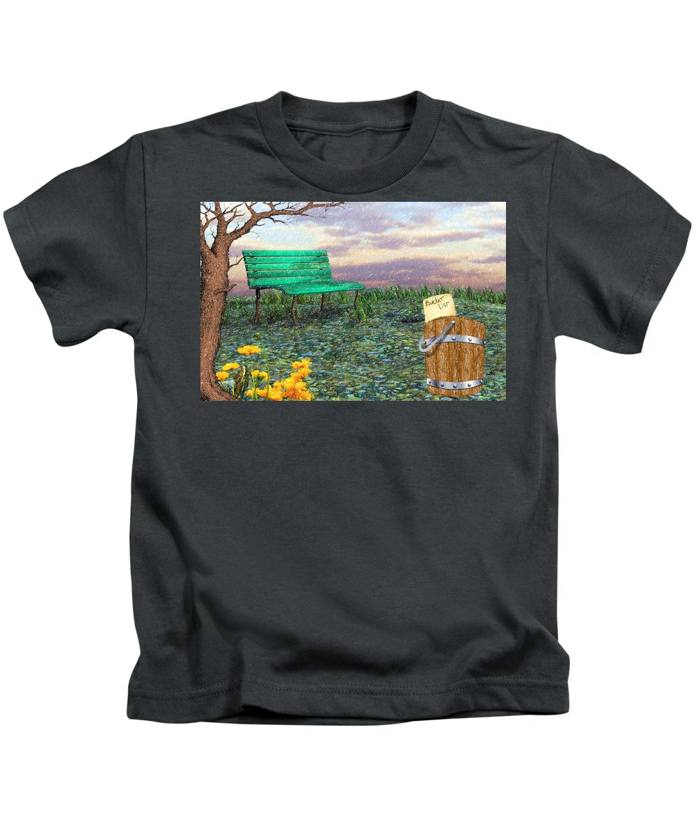 Afternoon Snooze Kids T-Shirt featuring the digital art Afternoon Snooze by L Wright