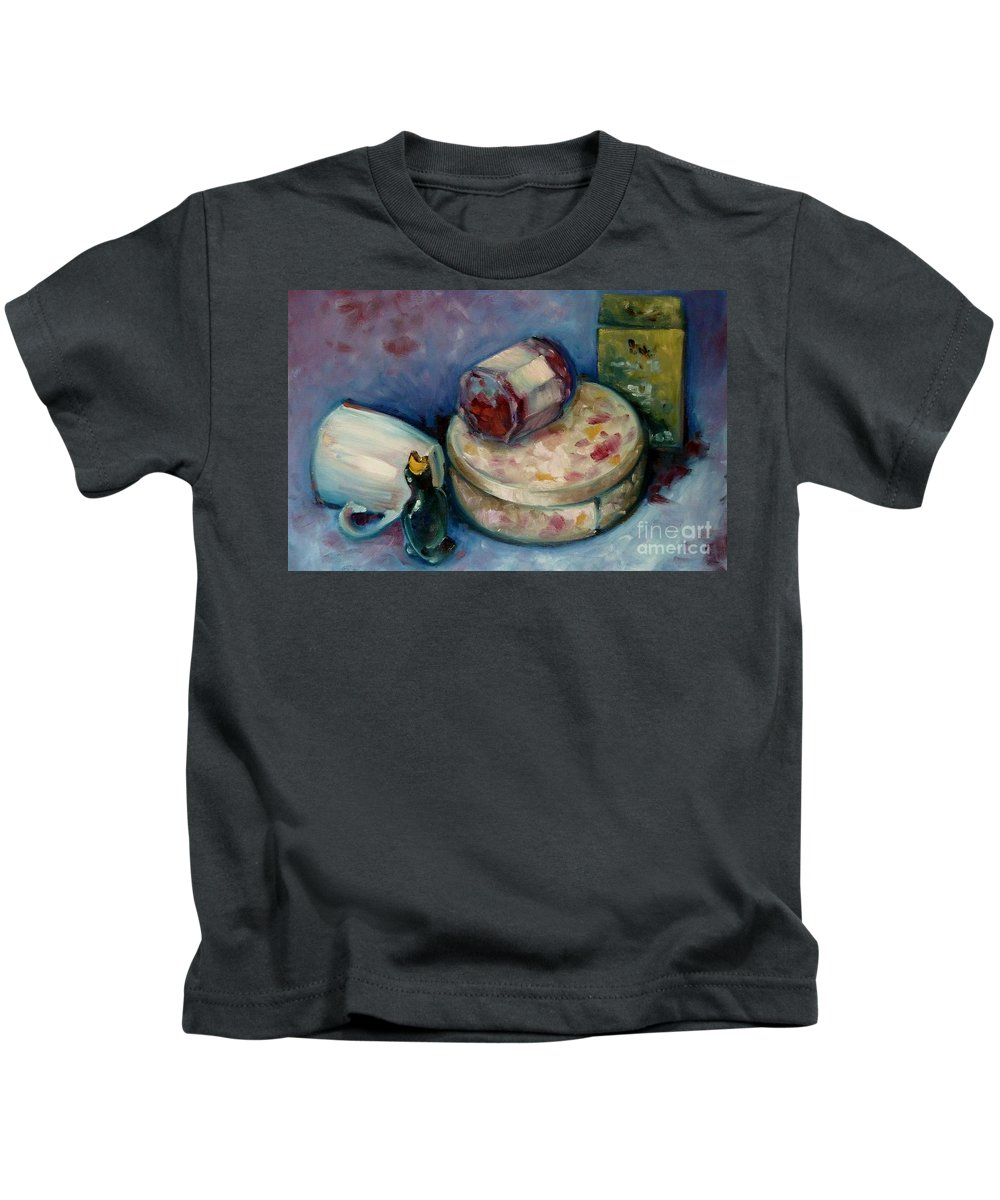 Tea Kids T-Shirt featuring the painting Afternoon Tea by K M Pawelec