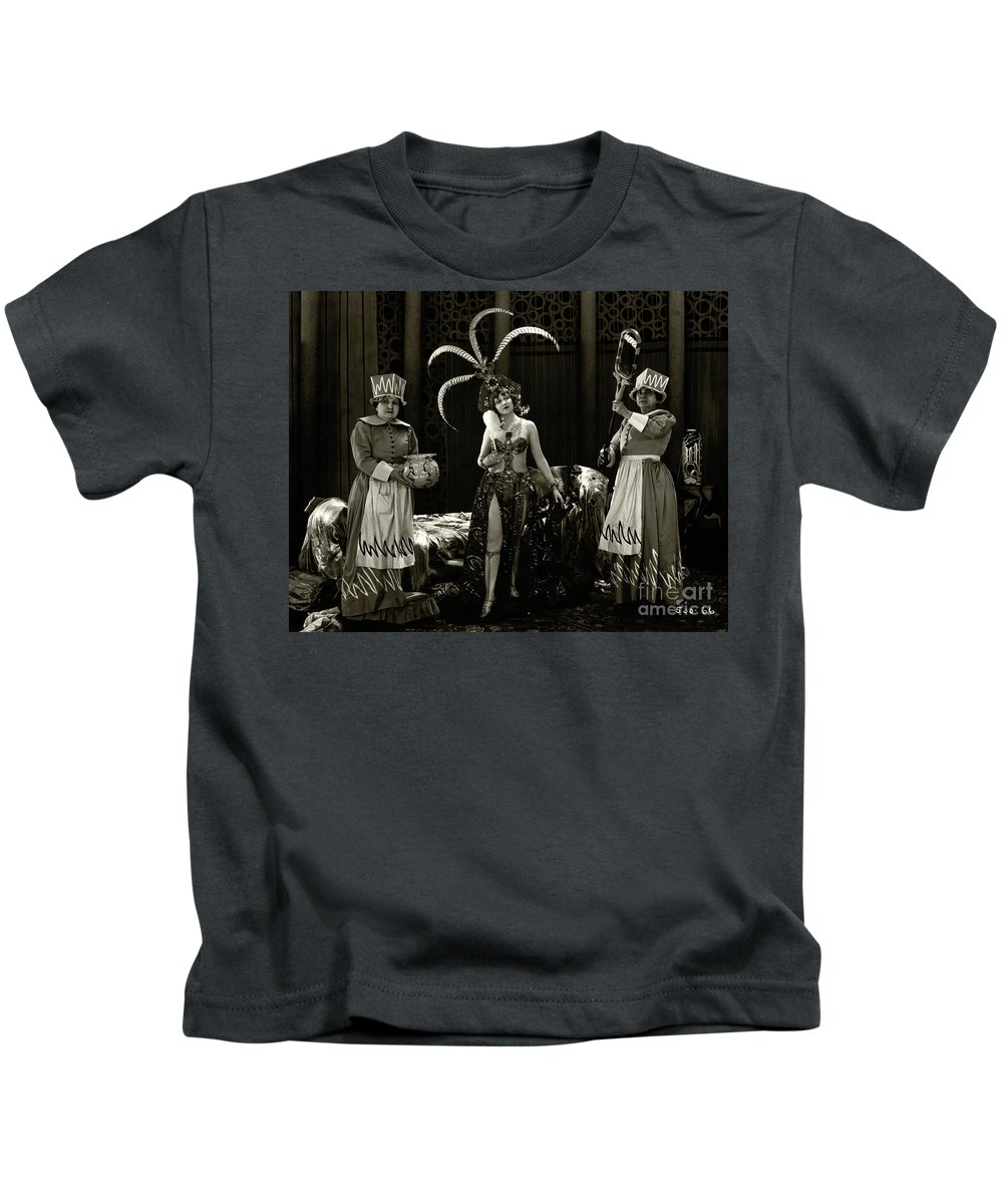 Agnes Ayres Kids T-Shirt featuring the photograph Agnes Ayres The Heart Raider 1923 by Sad Hill - Bizarre Los Angeles Archive