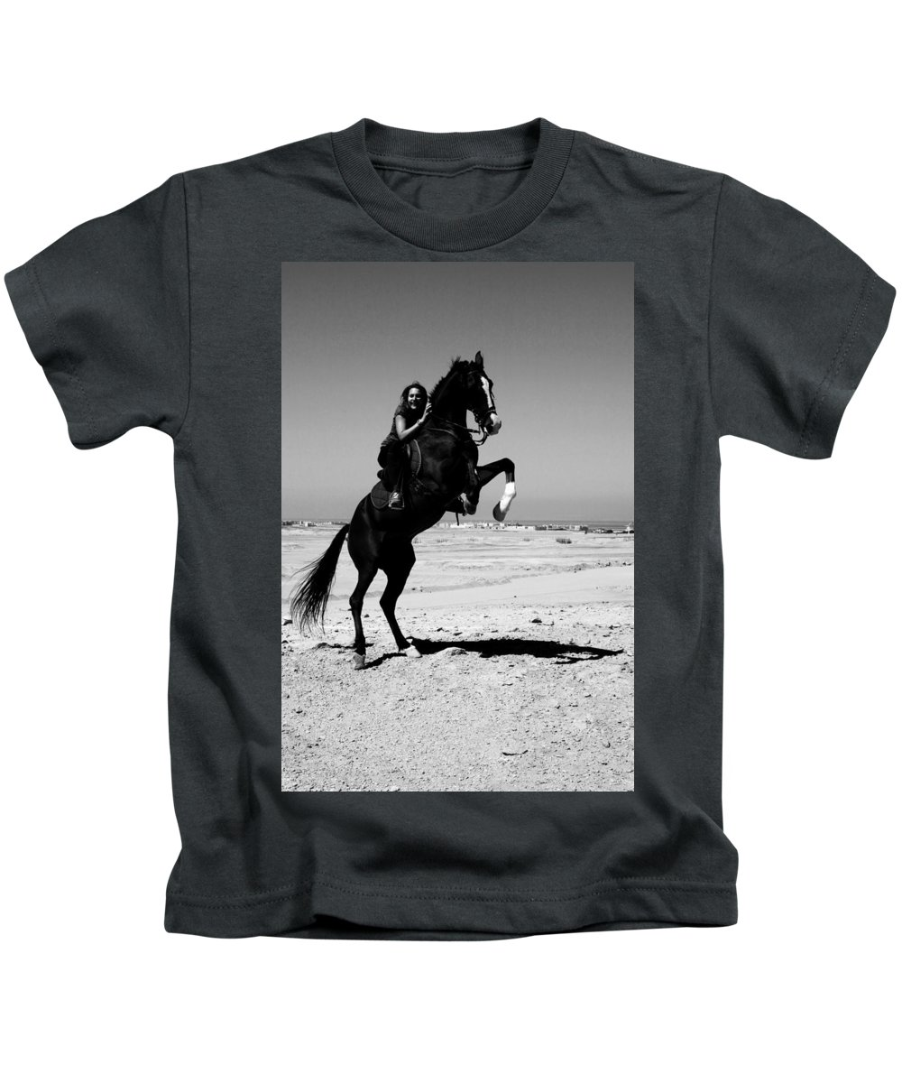 Jezcself Kids T-Shirt featuring the photograph Ahead Is The Only Way by Jez C Self