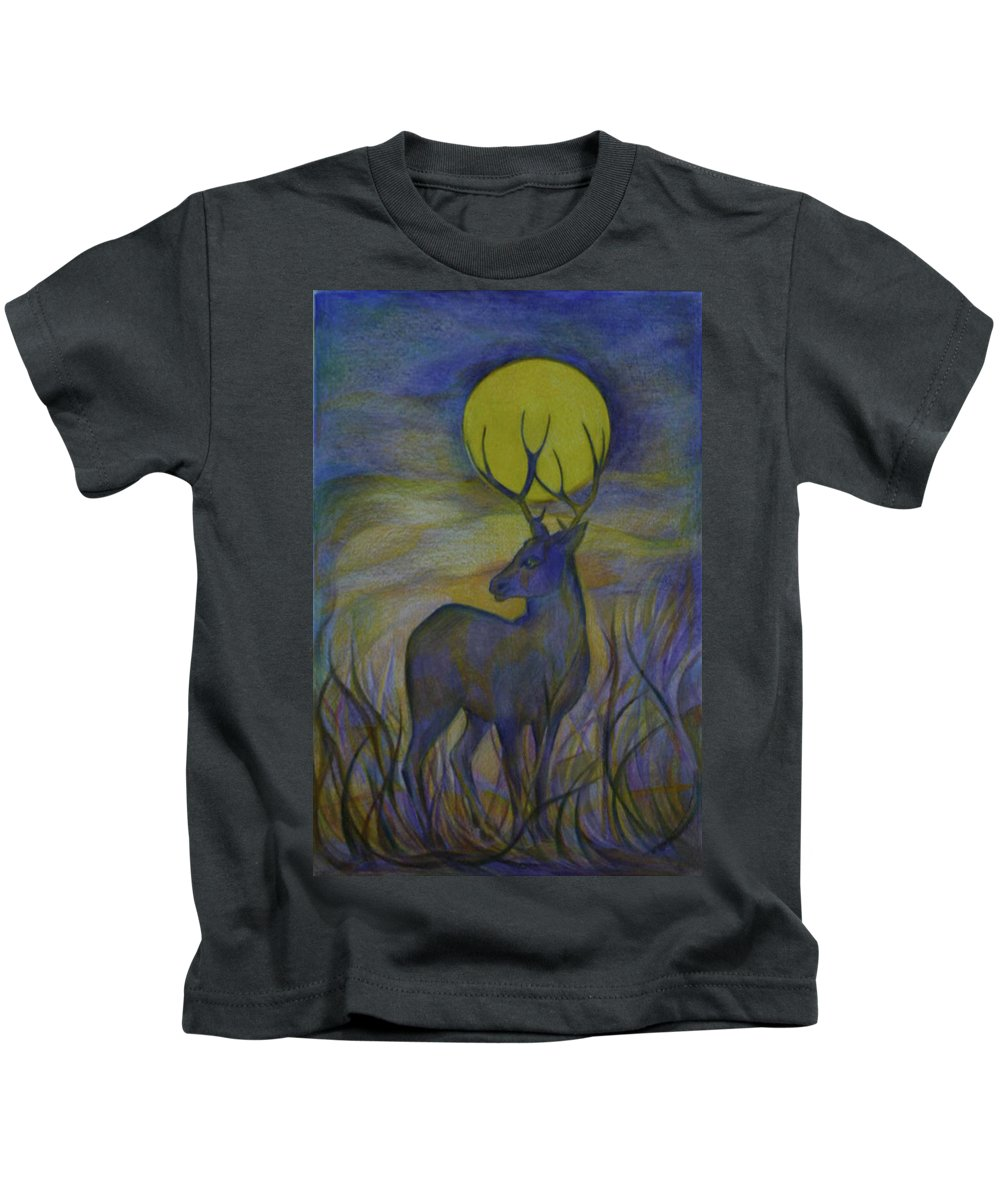 Travel Kids T-Shirt featuring the drawing Alaska Stories. Part Four by Anna Duyunova