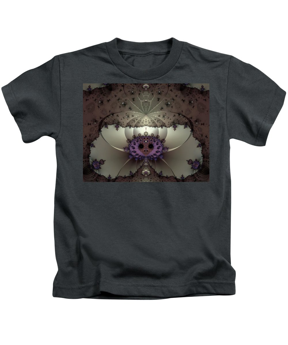 Abstract Kids T-Shirt featuring the digital art Alien Exotica by Casey Kotas