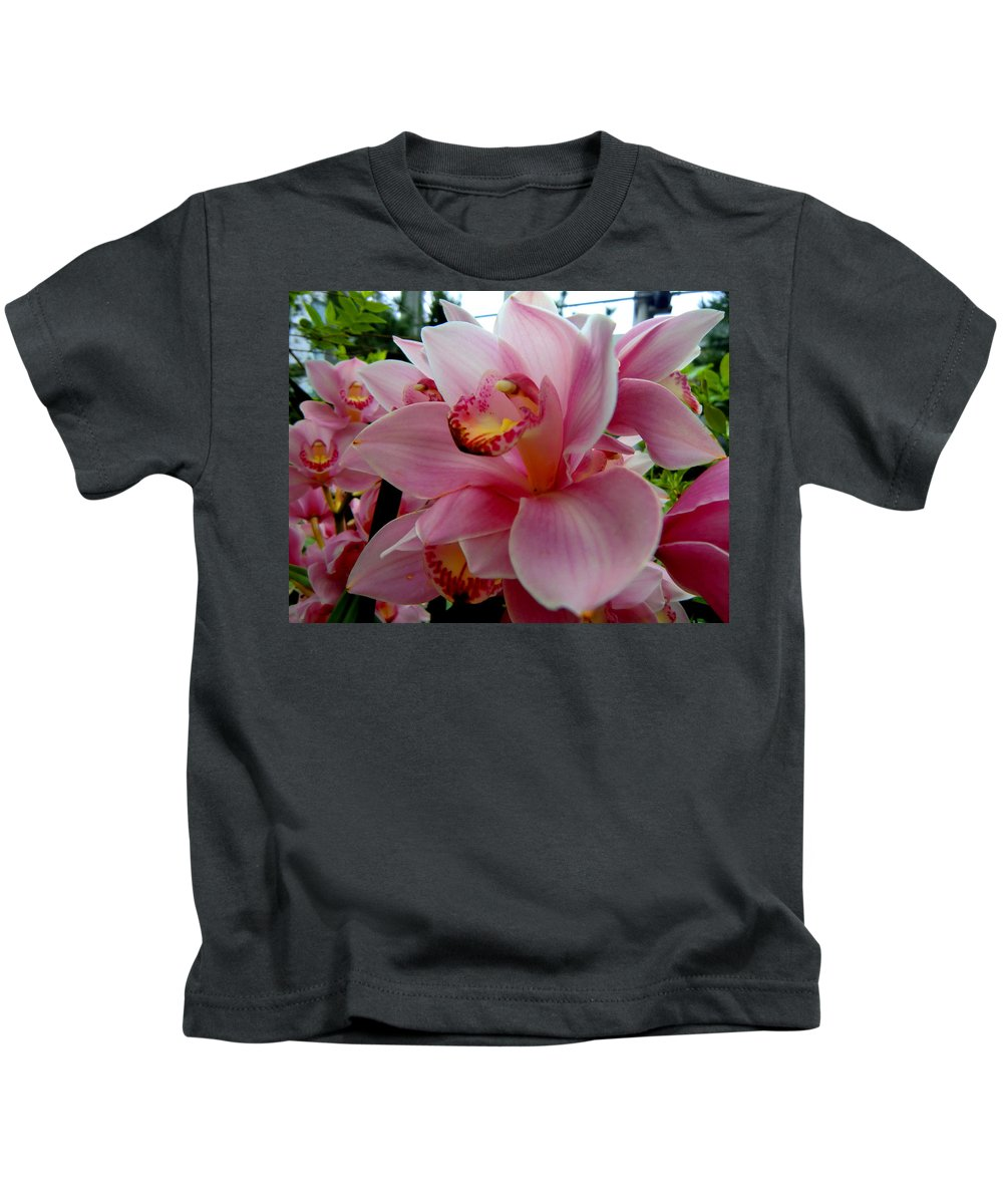 Blossom Kids T-Shirt featuring the painting All About Love by Mindy Newman