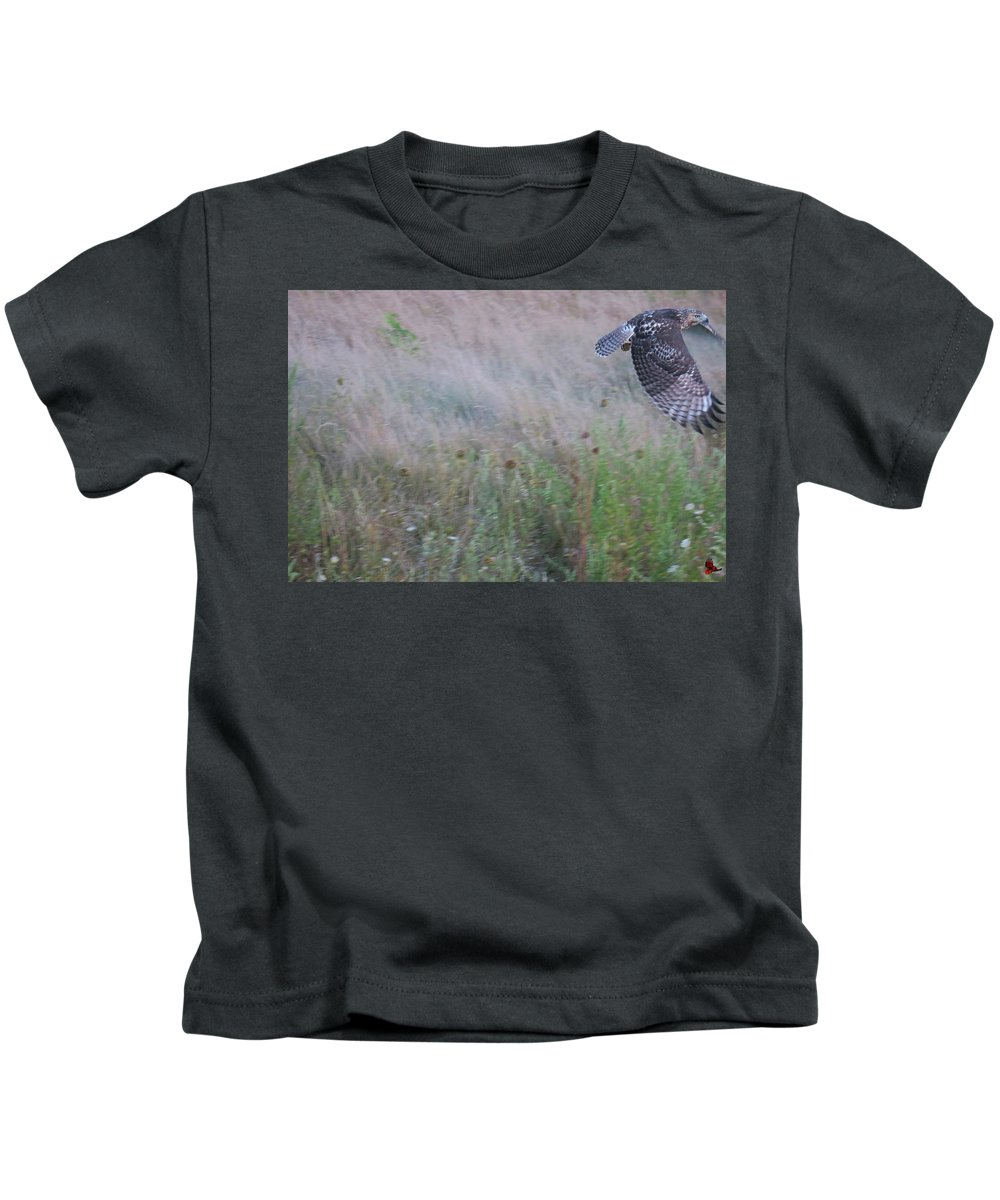 Wildlife Kids T-Shirt featuring the photograph Almost Got Away by Ronald Raymond