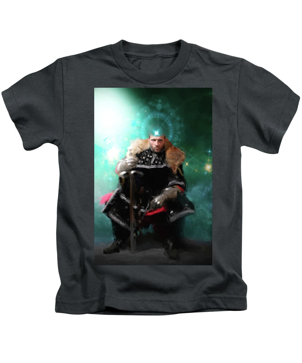 God Kids T-Shirt featuring the digital art Alohader, Creator-of-all by Lucas Rayel