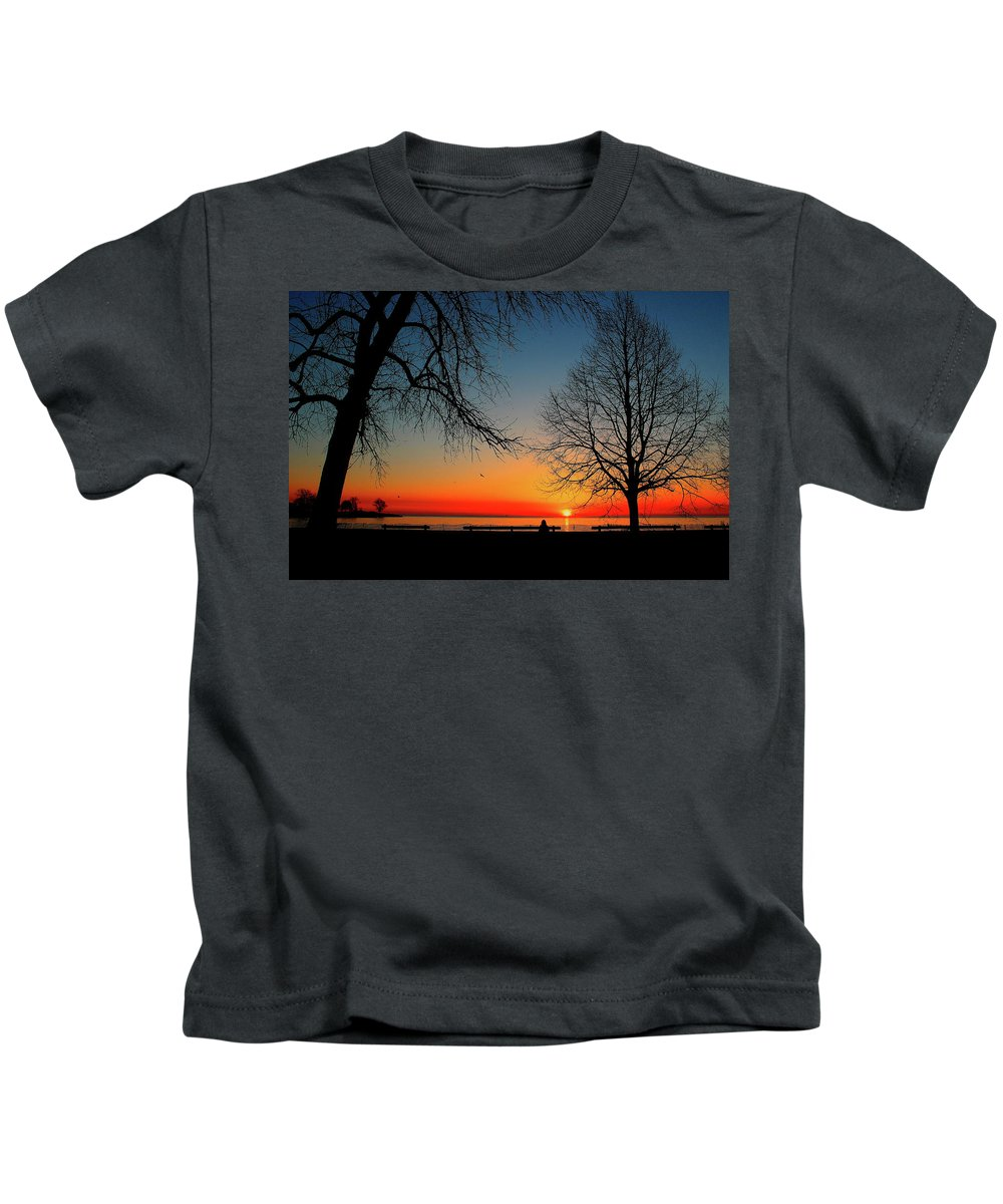 Trees Kids T-Shirt featuring the photograph Alone by Jeff Kudla