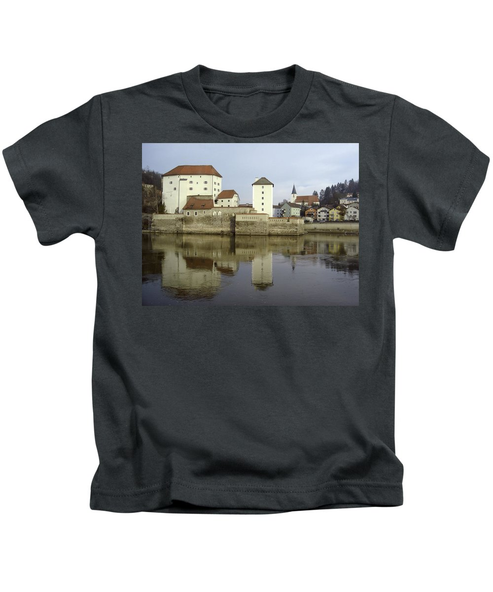 River Kids T-Shirt featuring the photograph Along The Danube by Mary Rogers