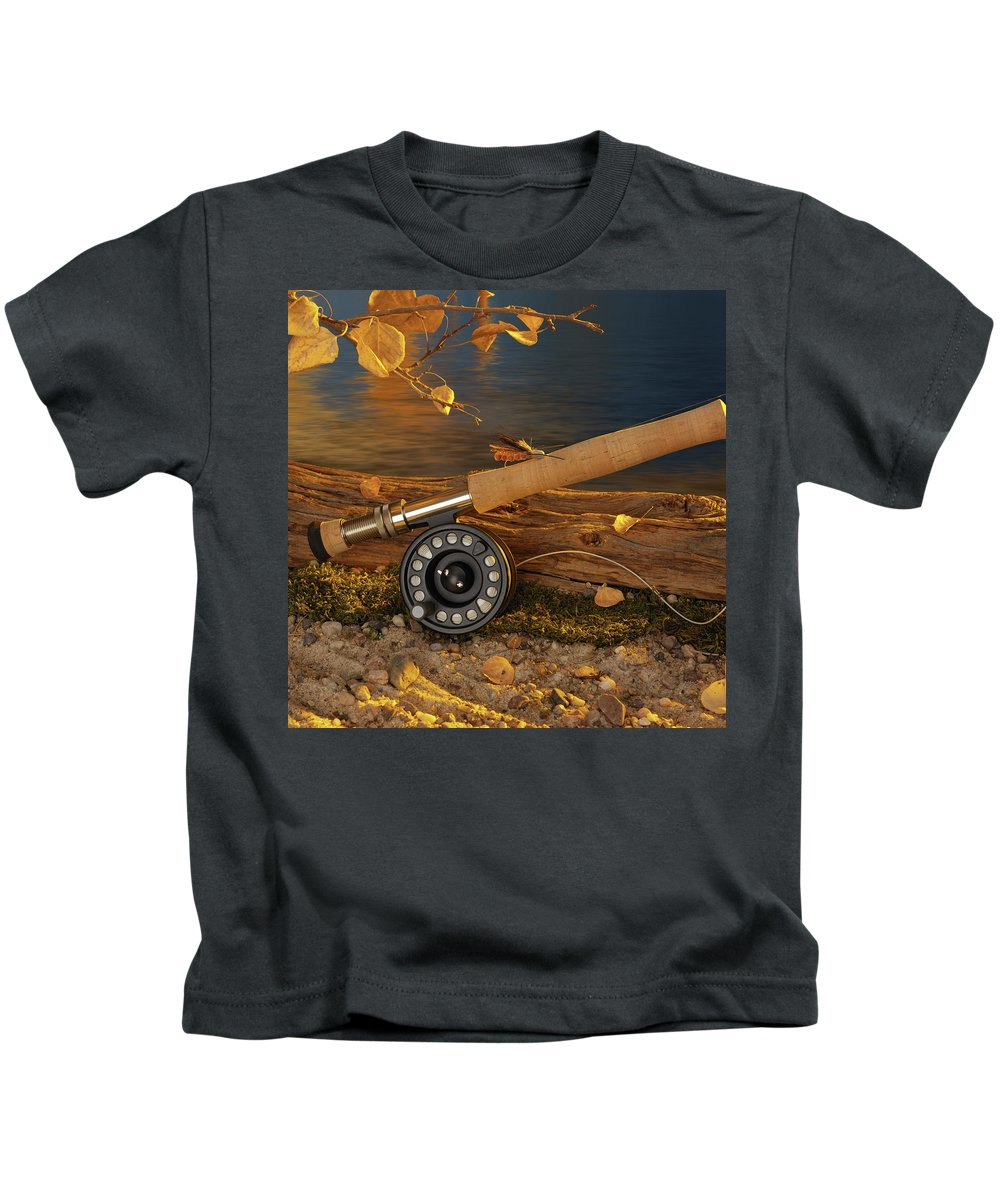 Fly Kids T-Shirt featuring the photograph Along The River by Jerry McElroy