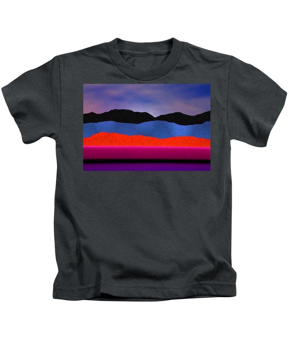 Abstract Kids T-Shirt featuring the photograph Alpenglow by Paul Wear