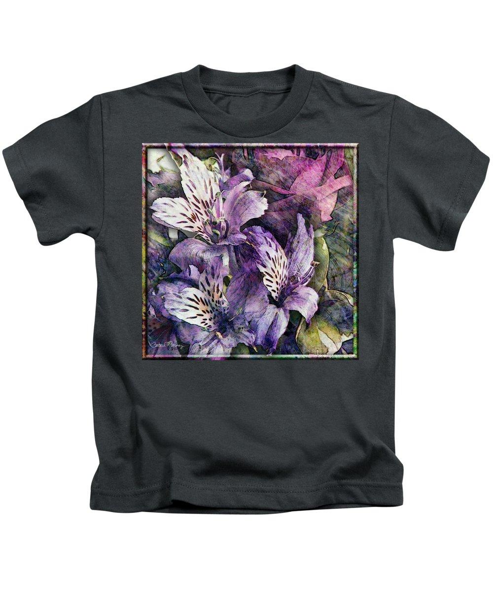 Flowers Kids T-Shirt featuring the digital art Alstroemeria by Barbara Berney