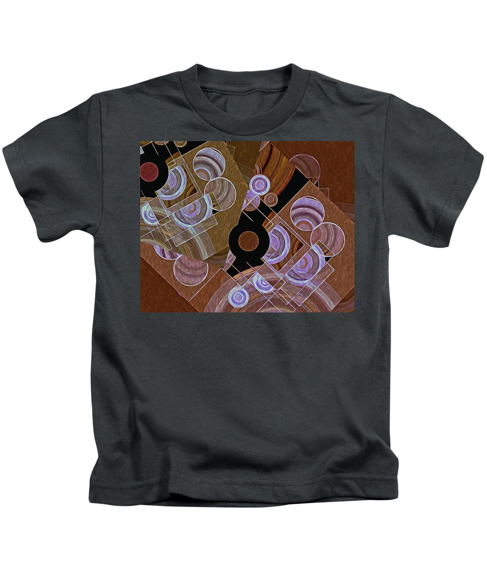 Rectangles Kids T-Shirt featuring the digital art Altered States 33 by Lynda Lehmann