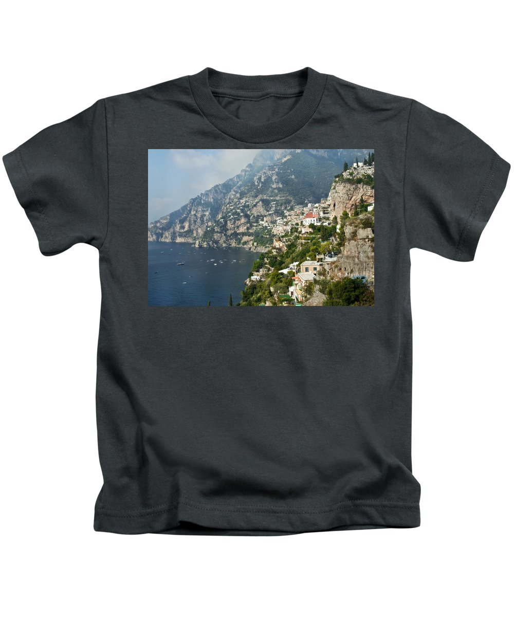 Amalfi Kids T-Shirt featuring the photograph Amalfi Coast II by Steven Sparks