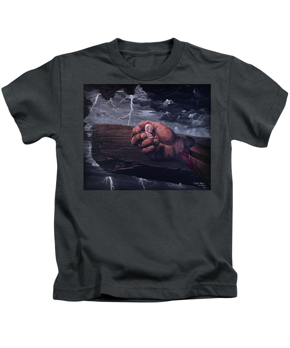 Spiritual Kids T-Shirt featuring the painting Amazing Grace by Bill Stephens