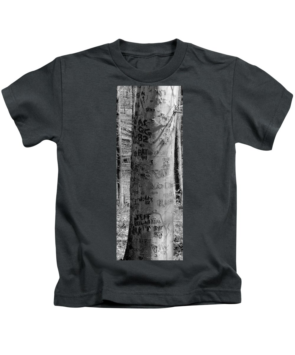 American Kids T-Shirt featuring the photograph American Graffiti 5 Tattoos For Trees by Edward Smith