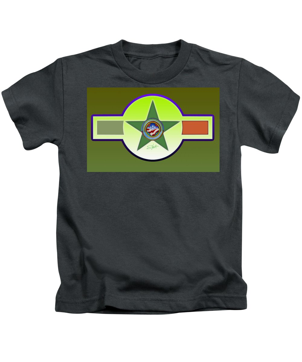 Insignia Kids T-Shirt featuring the painting American Olive by Charles Stuart