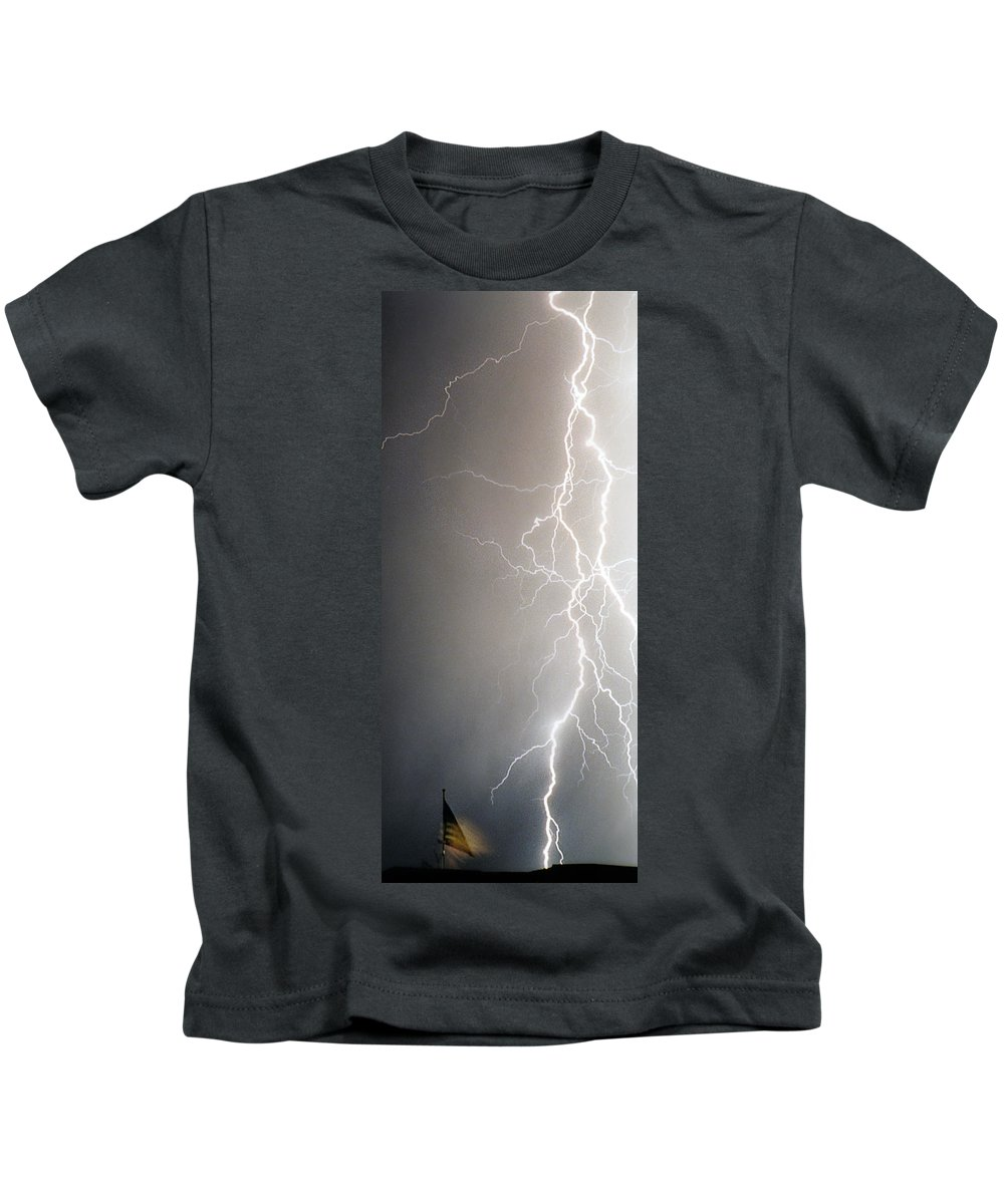 Usa Kids T-Shirt featuring the photograph American Storm by James BO Insogna