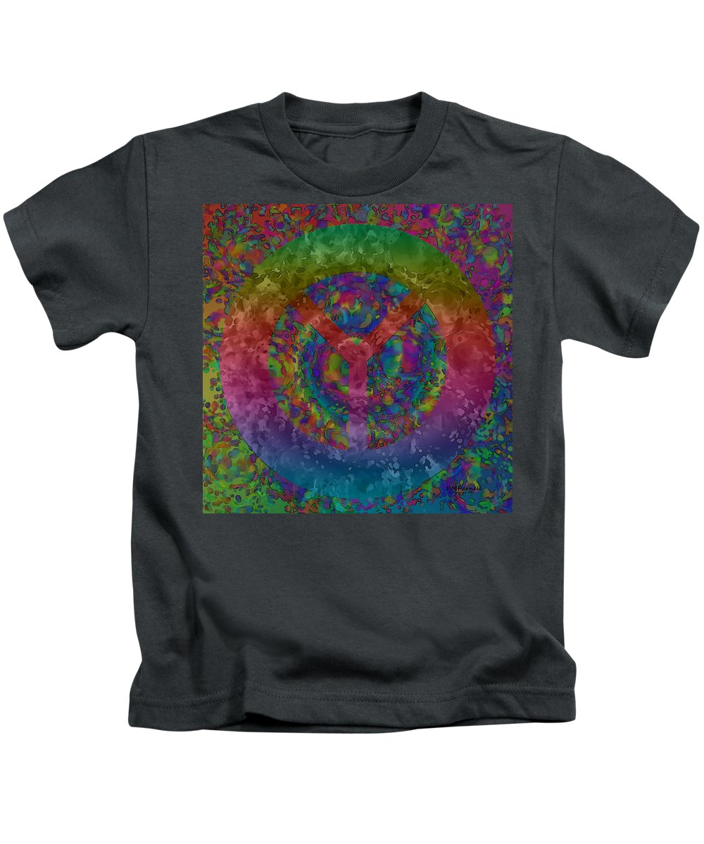 Peace Kids T-Shirt featuring the digital art Americans Want Peace by Diane Parnell