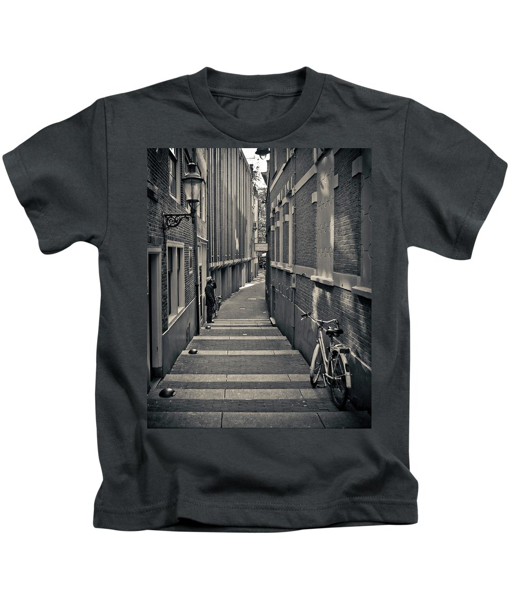 3scape Photos Kids T-Shirt featuring the photograph Amsterdam by Adam Romanowicz