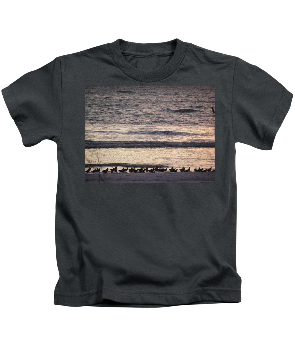 Evening Stroll Kids T-Shirt featuring the photograph An Evening Stroll by Ed Smith