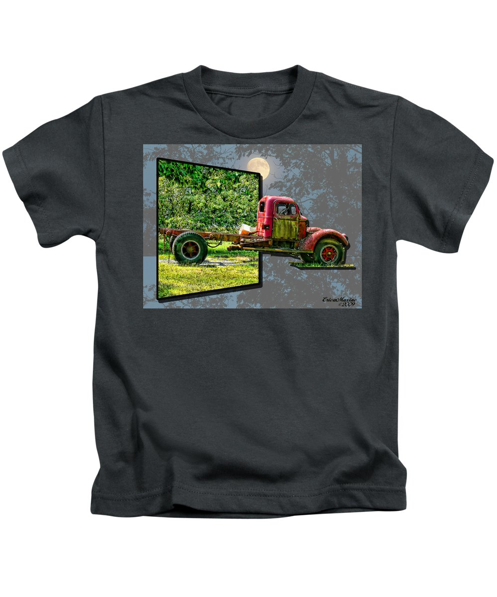 Truck Kids T-Shirt featuring the photograph An Old Relic by Ericamaxine Price