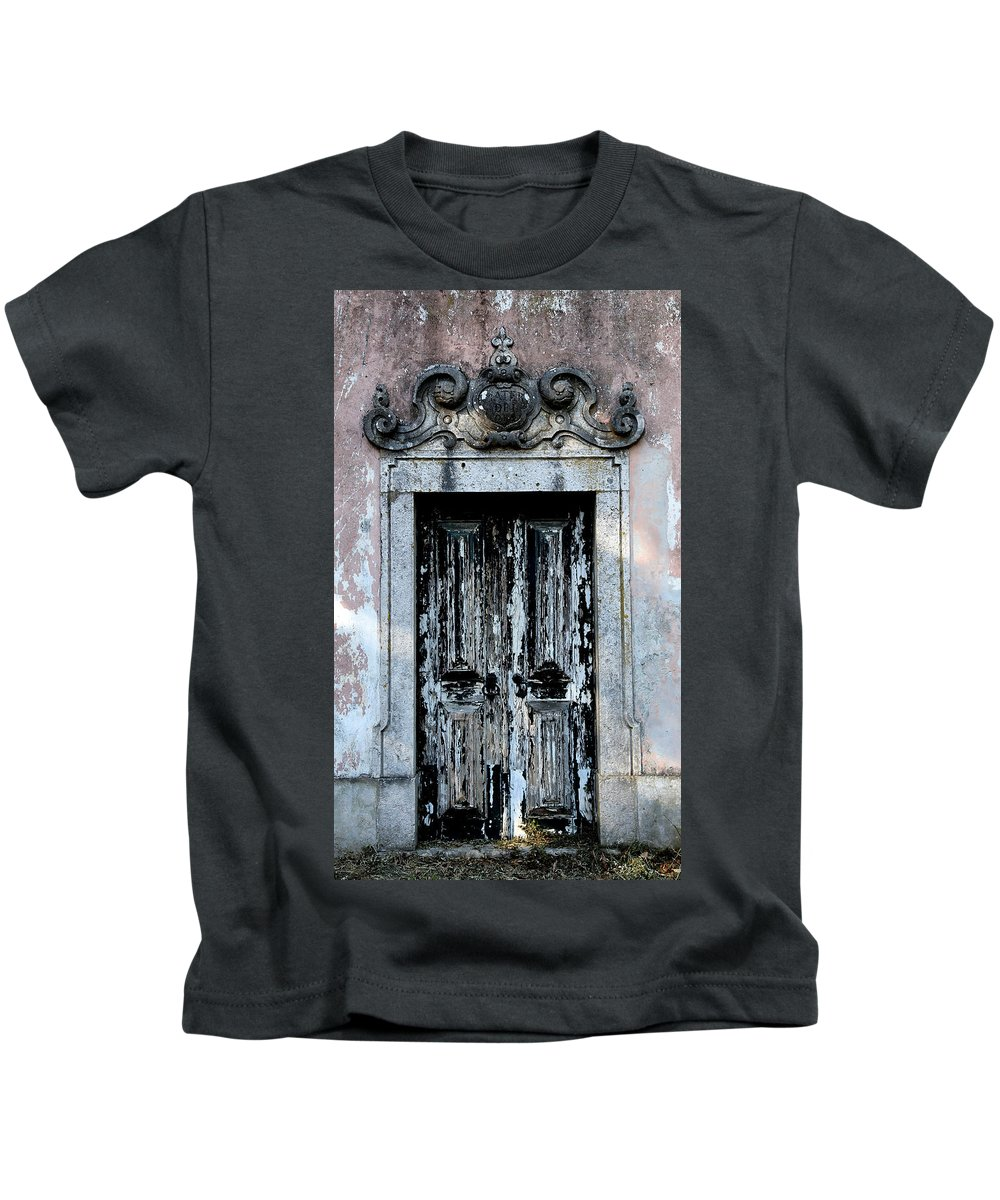 Door Kids T-Shirt featuring the photograph Ancient Door 3 by Andrew Fare