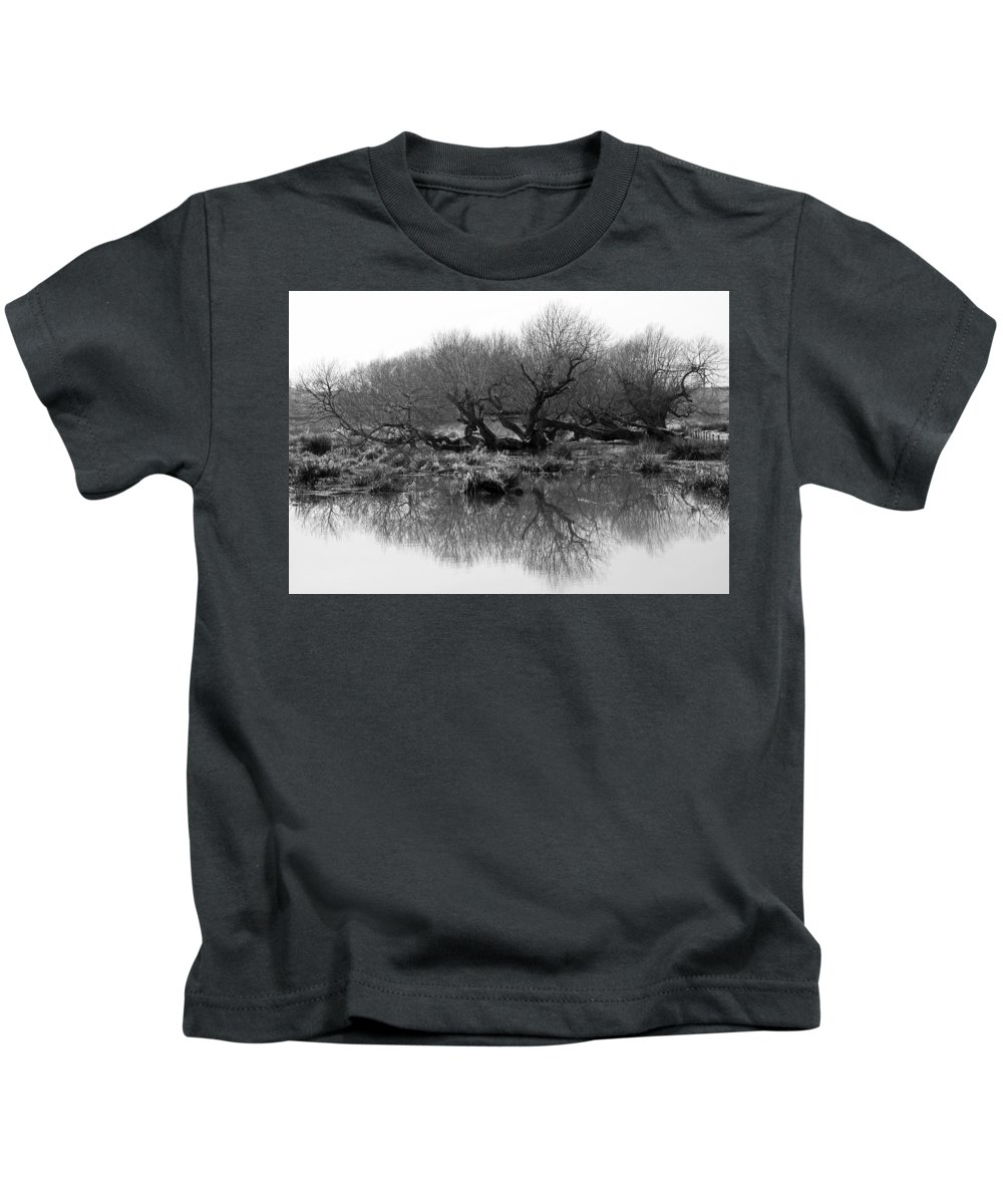 Trees Kids T-Shirt featuring the photograph Ancient Pollard Trees by Bob Kemp