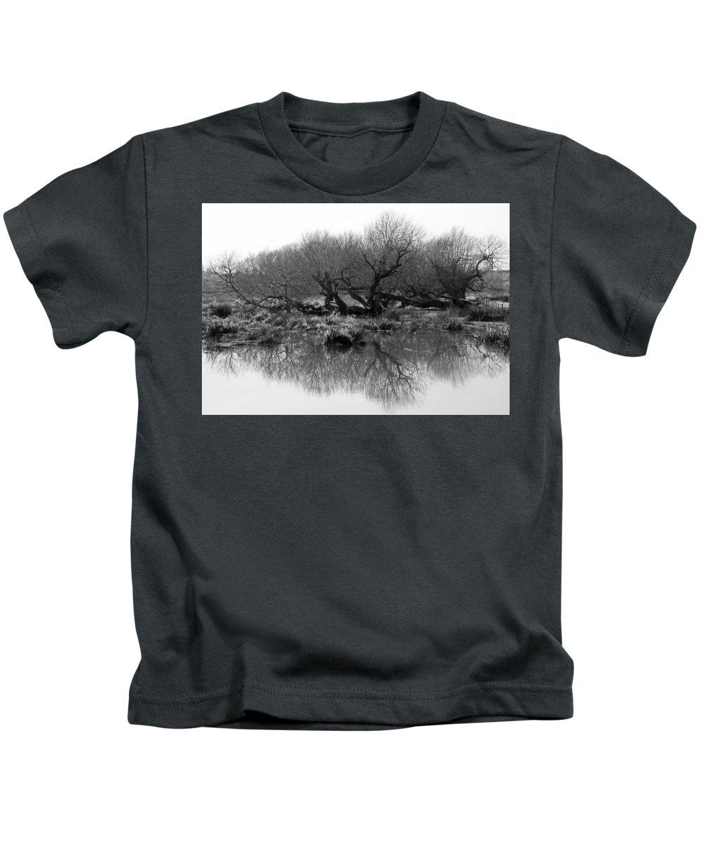 Trees Kids T-Shirt featuring the photograph Ancient Pollard Trees by Bob Kemp
