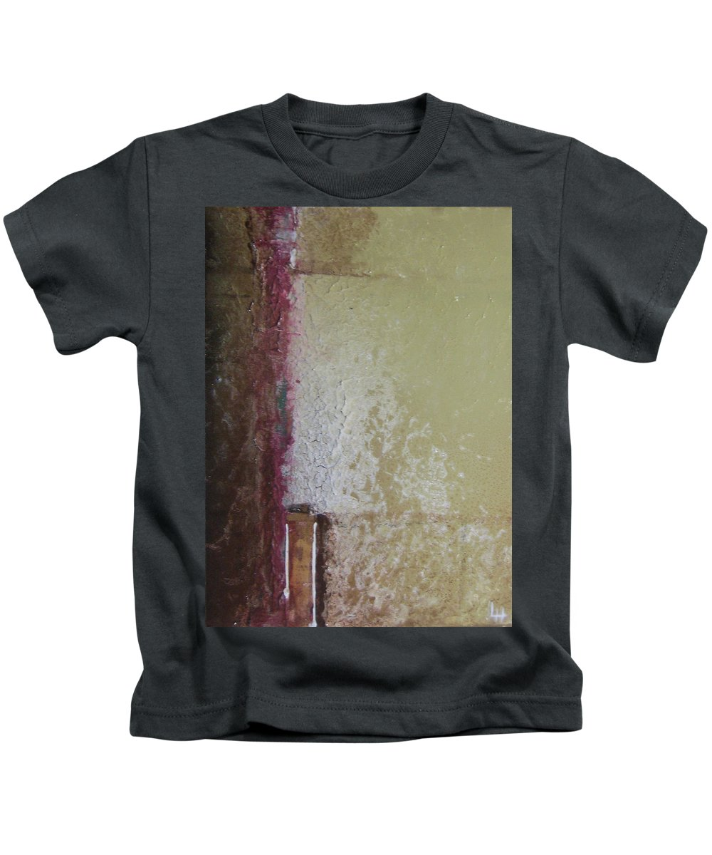 Abstract Kids T-Shirt featuring the painting Ancient Wall by Leah Hicks