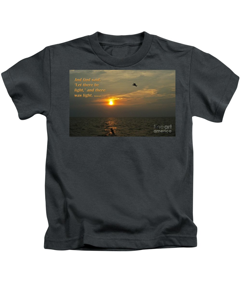 God Kids T-Shirt featuring the photograph And God Said... by Lydia Holly