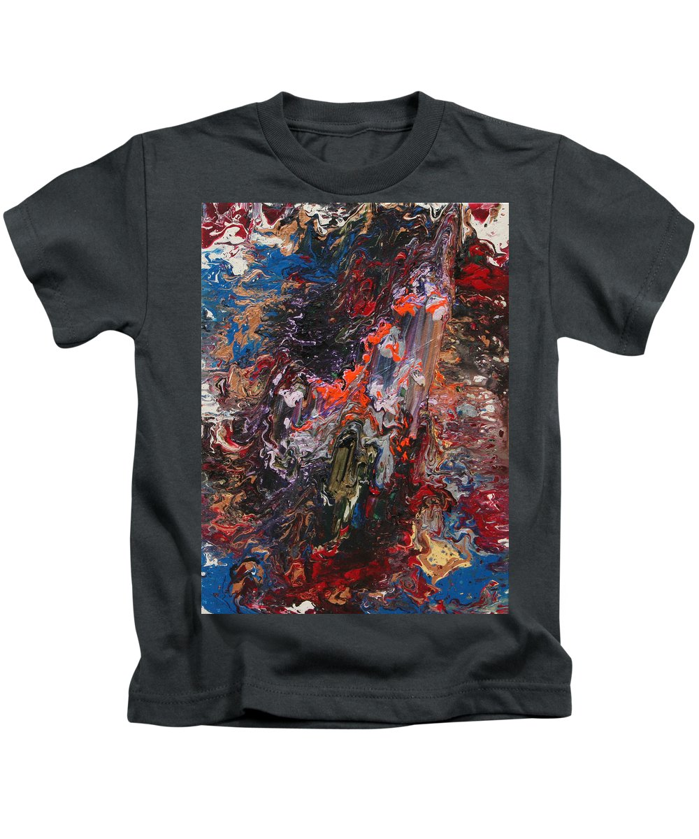 Fusionart Kids T-Shirt featuring the painting Angel Rising by Ralph White