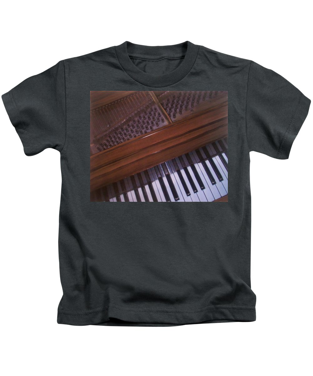 Piano Kids T-Shirt featuring the mixed media Anita's Piano 1 by Anita Burgermeister