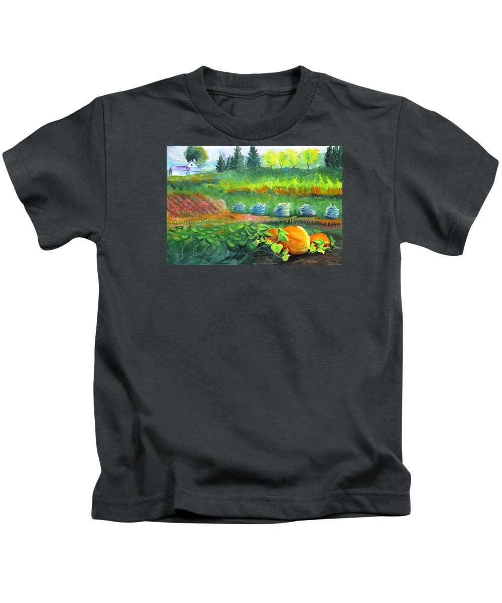 Summer Kids T-Shirt featuring the painting Annes Garden by Karen Stark