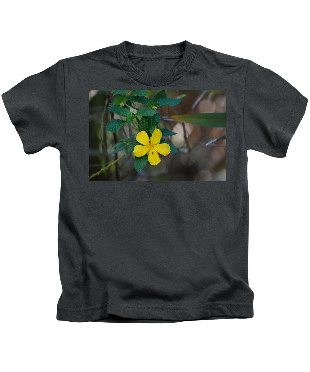 Macro Kids T-Shirt featuring the photograph Ant Flowers by Rob Hans