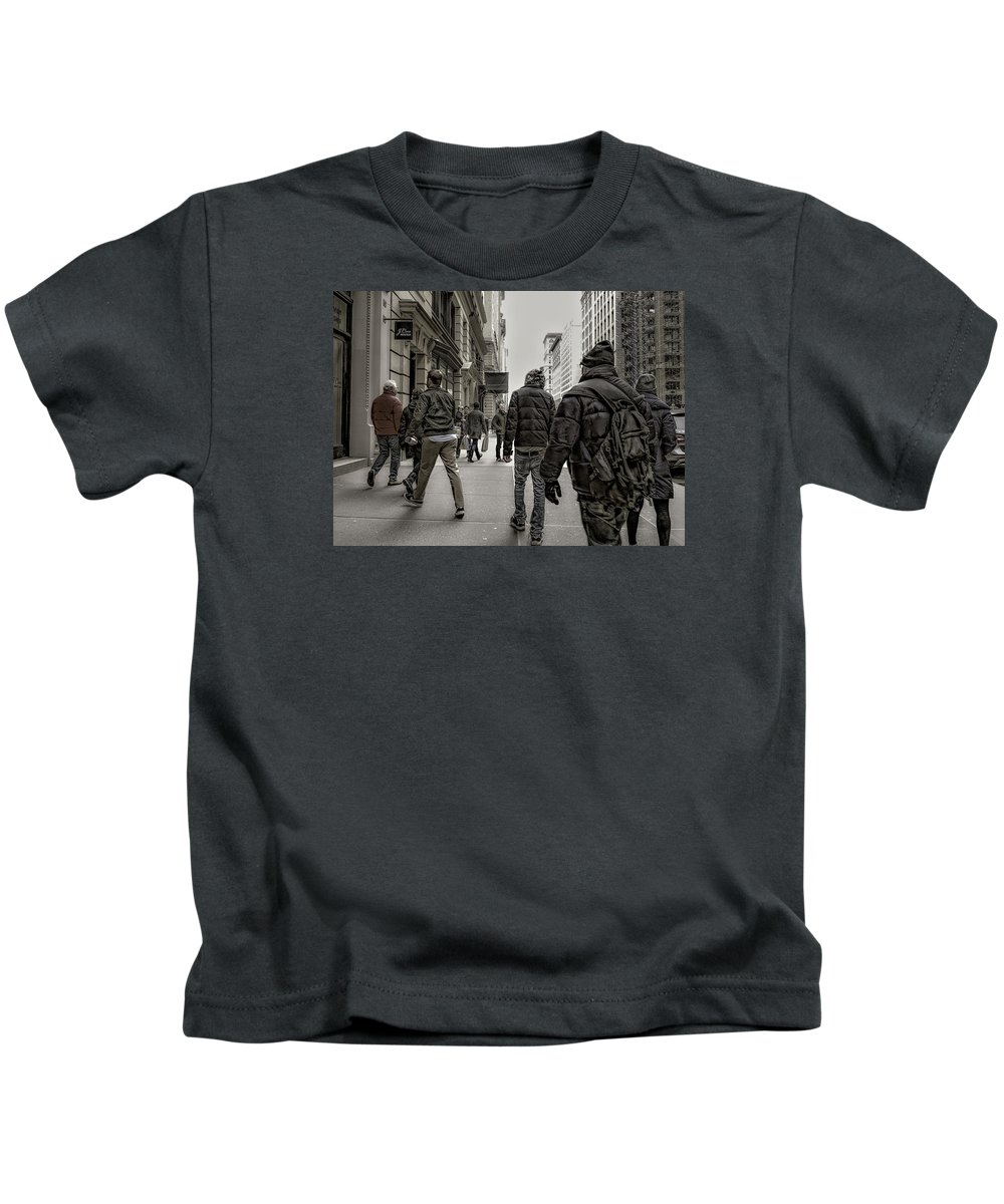 New York Kids T-Shirt featuring the photograph Anthropology by Jeff Watts