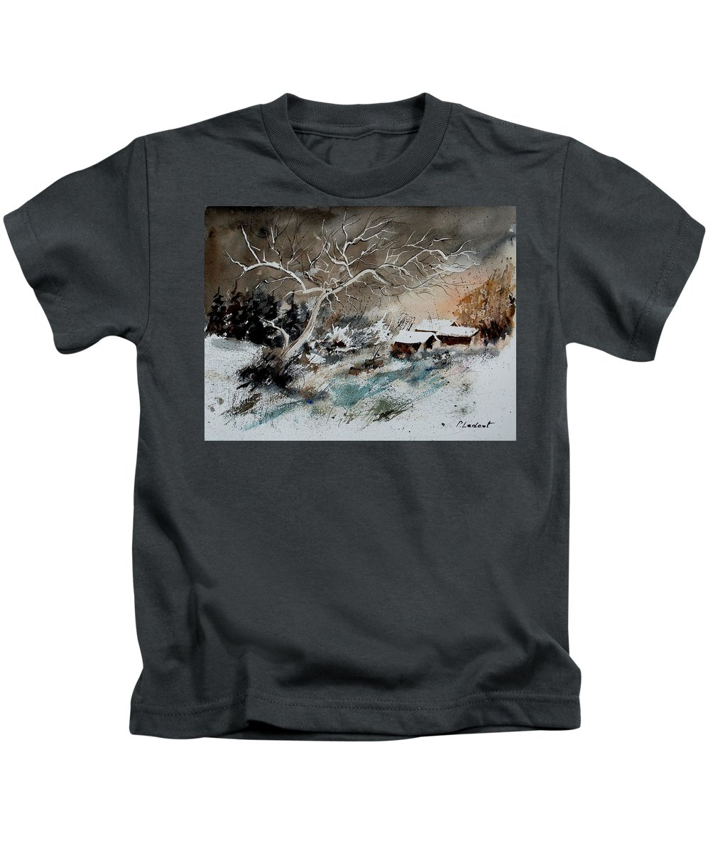 Winter Kids T-Shirt featuring the painting Aqua 290108 by Pol Ledent