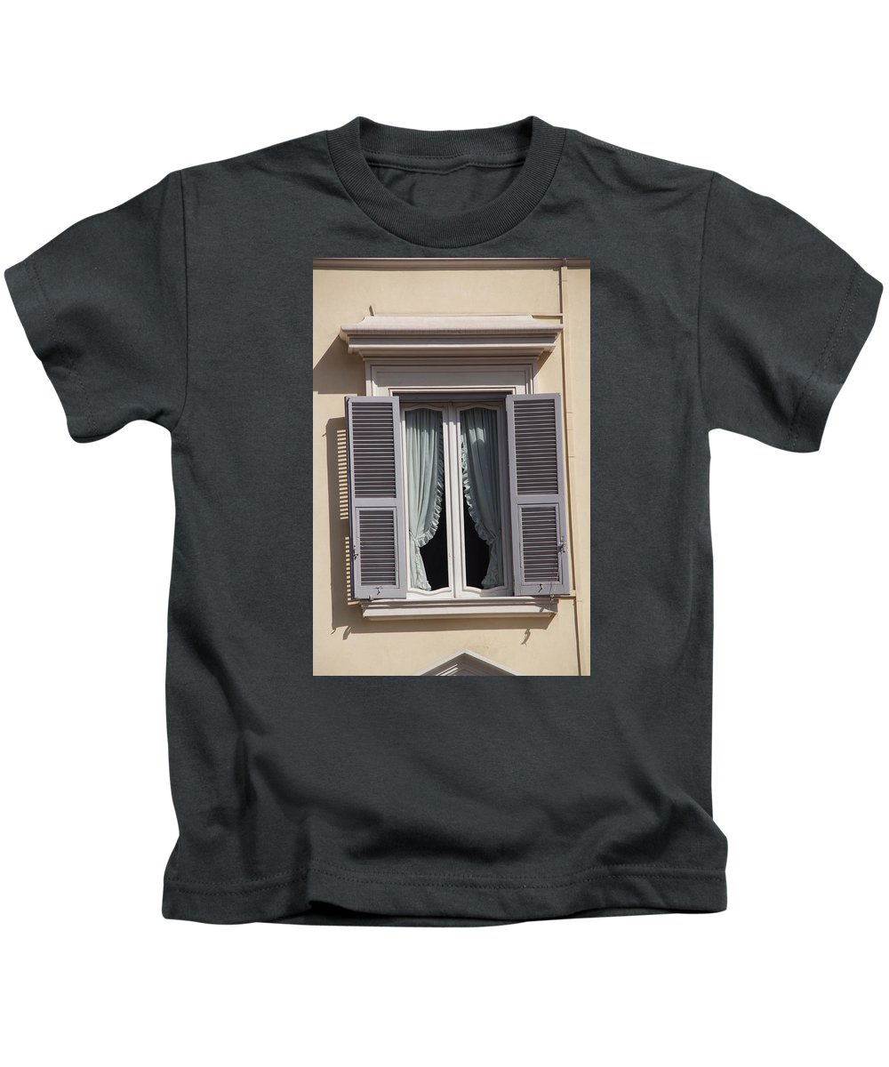 Window Kids T-Shirt featuring the photograph Are You Awake by Ron Koivisto