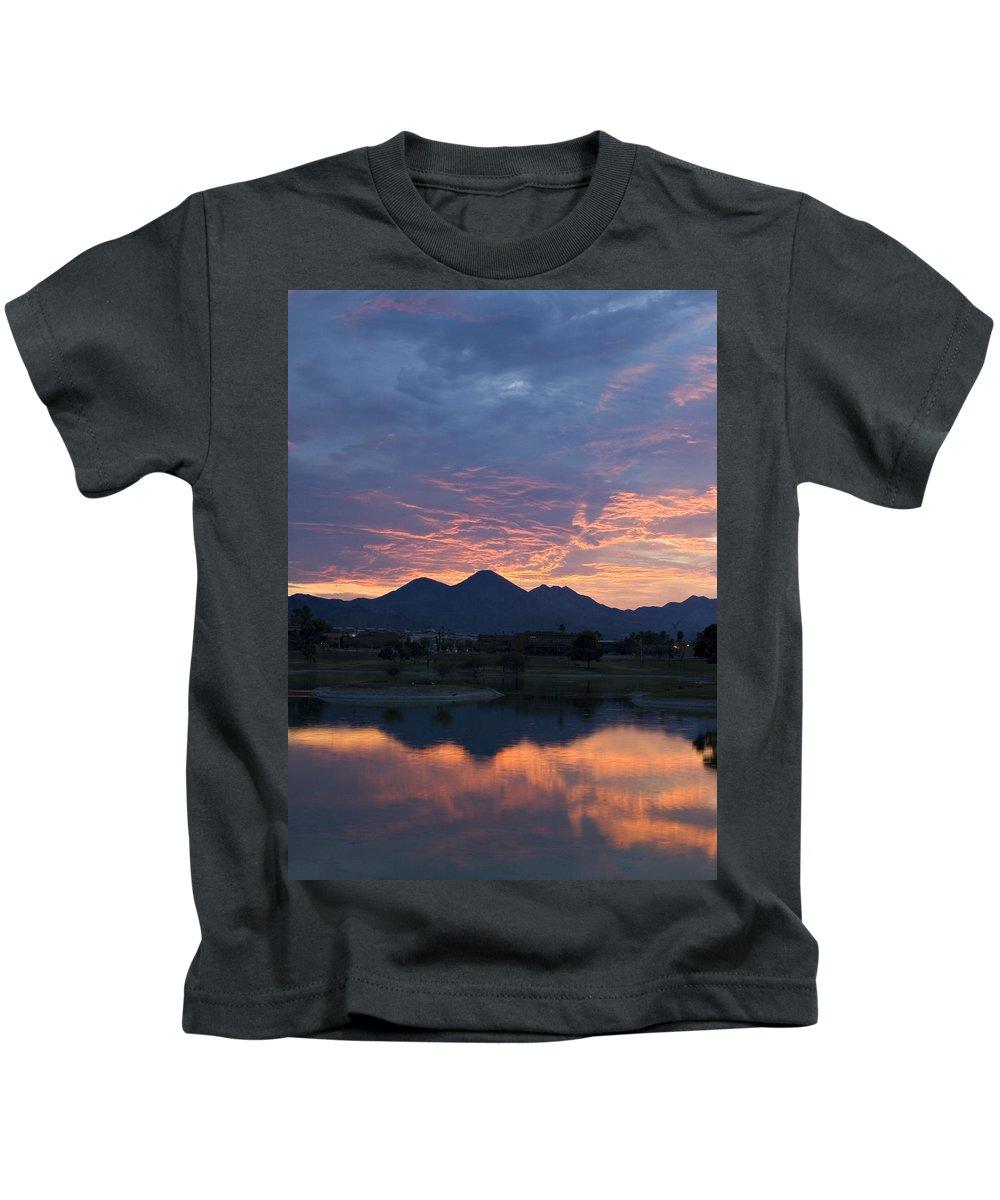 Arizona Kids T-Shirt featuring the photograph Arizona Sunset 2 by Renee Hong
