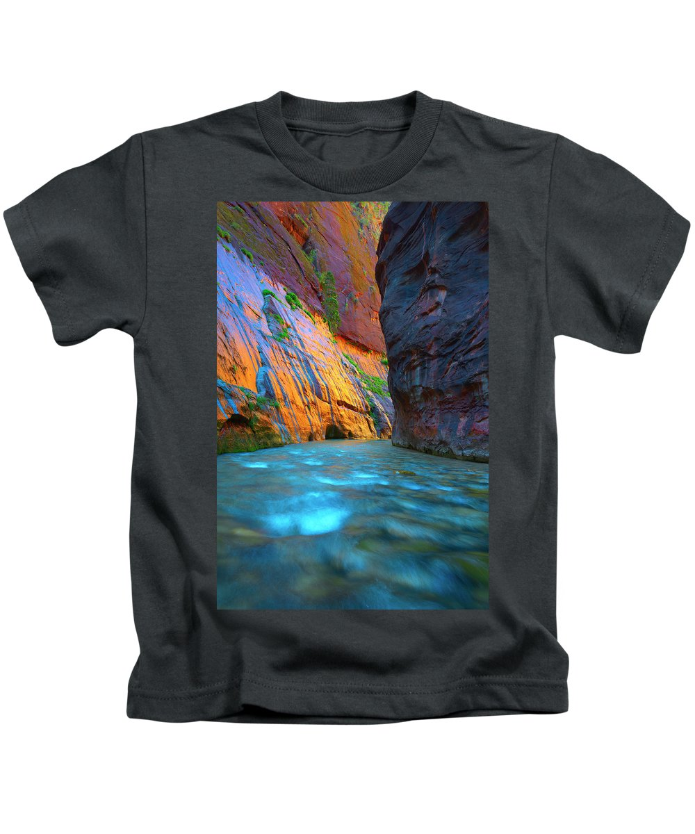 Zion Kids T-Shirt featuring the photograph Around The Bend by Brian Knott Photography