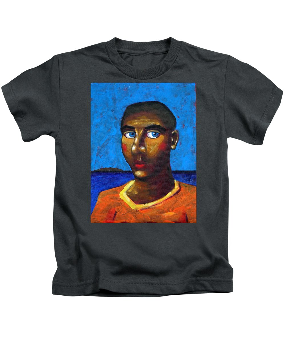 Arsonist Kids T-Shirt featuring the painting Arsonist by Dimitris Milionis